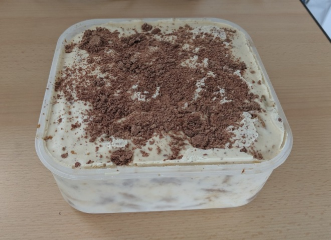 Tiramisu ice cream (before starting to eat...)